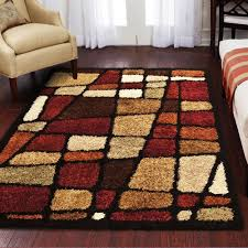 Orange Area Rug With White Swirls Decorating Gorgeous Area Rugs At Walmart With Fabulous Motif