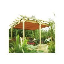 pergola avec toile retractable pergola rowlinson en bois avec toile coulissante plantes et