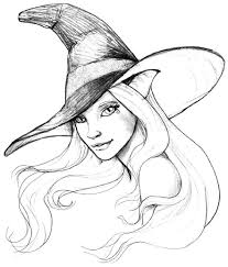 coloring halloween witch coloring pages