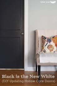 Hollow Interior Doors Diy Updating Hollow Doors White Nest Black Interior Doors