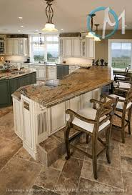 unfinished woode kitchen island design ideas with attached table