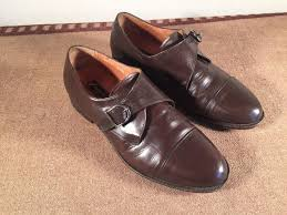 vintage brown leather dress shoes duque da milano 8 1 2 ee ebay