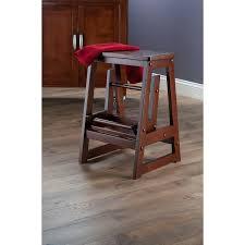 amazon com winsome wood step stool antique walnut kitchen u0026 dining