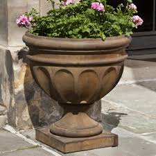 Urn Planters With Pedestal Urn Planters Cast Stone Urn Planters