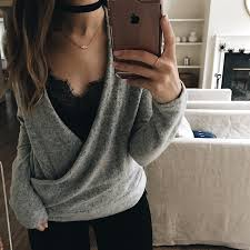 sweater with wrap sweater with a lace cami underneath pinteres