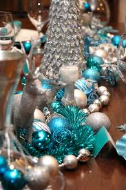 Christmas Table Decor by Christmas Table Chic Blue And Silver Design U2014 Chic Party Ideas