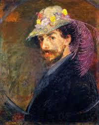 Lui Meme - james ensor au chapeau fleuri par lui même oeuvres du xix et du