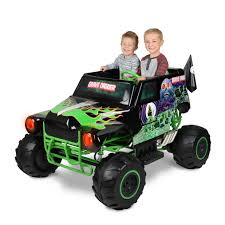 large grave digger monster truck toy monster jam grave digger 24 volt battery powered ride on walmart com