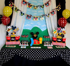mickey mouse birthday ideas mickey mouse party decoration ideas photo pic pics of