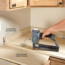 How Do You Install A Kitchen Faucet Kitchen Countertops Countertop Materials The Family Handyman