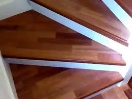 parquet laminate flooring on stairs