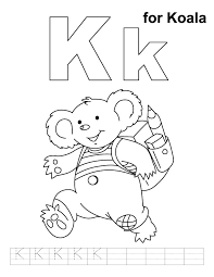 koala coloring handwriting practice download