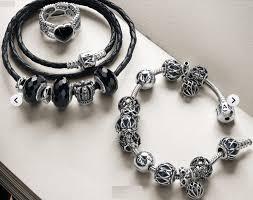 black silver pandora bracelet images Black pandora bracelet centerpieces bracelet ideas jpg