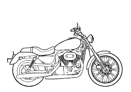 drawn motorcycle harley pencil and in color drawn motorcycle harley