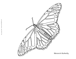 unique monarch butterfly coloring page 98 on free colouring pages