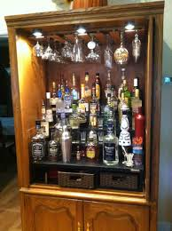 whiskey barrel liquor cabinet reclaimed wine with bottle