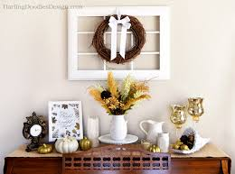 Walk Into Dining Room From Front Door White And Gold Thanksgiving Display Darling Doodles