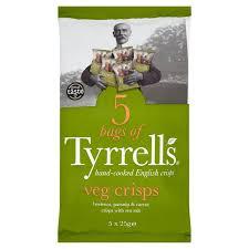 Roots Vegetable Crisps - tyrrells mixed root vegetable multipack 5 x 25g from ocado