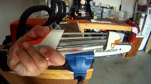 how to sharpen a chainsaw chain on a stihl ms170 youtube