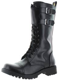 buy combat boots womens volatile tank s buckle combat boots faux leather