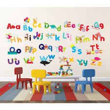 Awesome Alphabet Wall Decals For Kids Rooms Contemporary Home - Alphabet wall decals for kids rooms