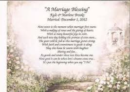 wedding blessing a marriage blessing personalized poem for wedding anniversary