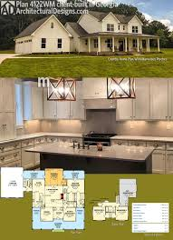 farmhouse design plans architectural designs country farmhouse plan 4122wm client built