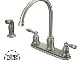 moen caldwell kitchen faucet iron moen caldwell kitchen faucet wall mount two handle side
