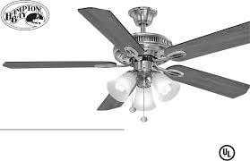 Hampton Bay Black Ceiling Fan by Hampton Bay Fan 165 474 User Guide Manualsonline Com