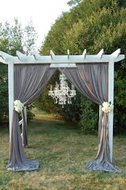 pergola design awesome burlap wedding arch simple wedding altar