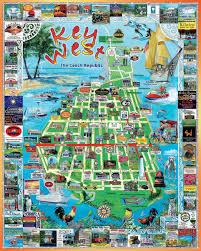 Map Of Key West Florida Amazon Com White Mountain Puzzles Key West 1000 Piece Jigsaw