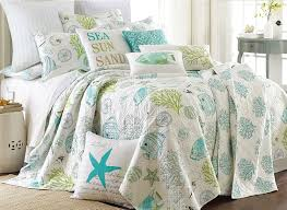amazon com biscayne full queen quilt set aqua coastal home u0026 kitchen