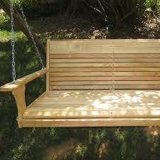 cypress larger porch swing with chain wood tree swings