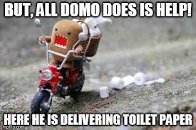 Domo Meme - kittens running from domo imgflip