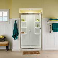 ovation curved shower door american standard tub and shower doors ovation curved shower door satin nickel