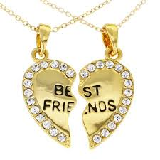 best friend gold necklace images 14k gold heart necklace clipart jpg