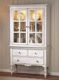 french provincial curio cabinet or norman as well distressed white