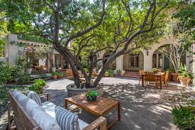 marlene dietrich s glamorous spanish style home asks 6 5m curbed la central courtyard