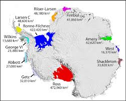 Map Of Antarctica A New In One Of Antarctica U0027s Biggest Ice Shelves Could Mean