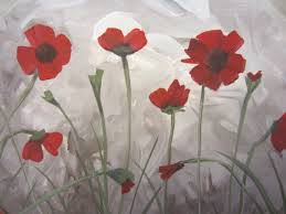 painted poppies a post in honor of remembrance day painting