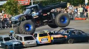 monster truck crash video lamborghini veneno wallpaper drag race mclaren p1 vs bugatti