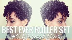 curling rods for short natural hair best ever roller set on 4c natural hair blackhairkitchen