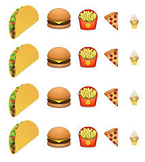 ice cream emoji junk food emoji taco pizza ice cream burger