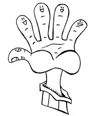 coloriages et dessins pour les enfants sur le thème doigt