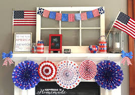 fourth of july decorations easy 4th of july mantel decorations happiness is