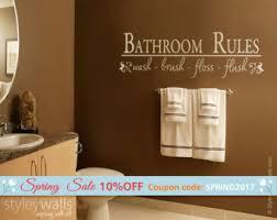 bathroom rules etsy