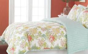 Martha Stewart Duvet Covers New Martha Stewart Peony Floral Green Aqua King Comforter Cover