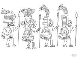 aztec warrior coloring pages printable coloring sheets