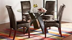 del mar ebony 5 pc round dining set dining room sets black