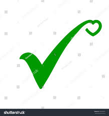Green Color Green Check Mark Icon Along Stylized Stock Vector 689320036